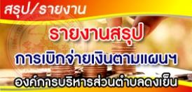 สรุปรายงานการเบิกจ่ายเงินตามแผนการใช้จ่ายเงินรวม ไตรมาส 2 ประจำปีงบประมาณ 2562